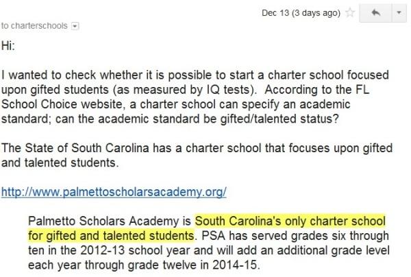Letter to CharterSchools Unit